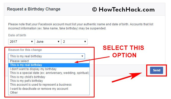 How To Change Birthday on Facebook After Limit 2017