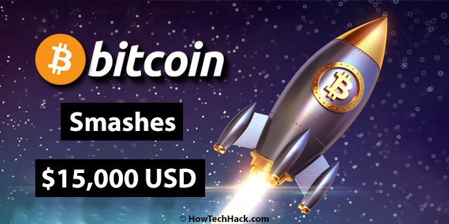 The Price of Bitcoin Smashes $15,000 USD Mark