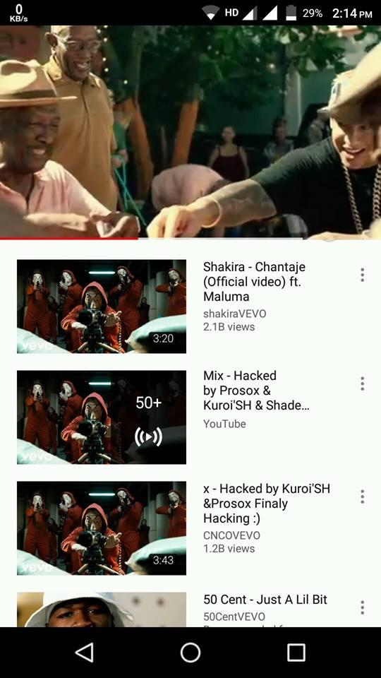 Vevo hacked by Prosox & Kuroi'SH