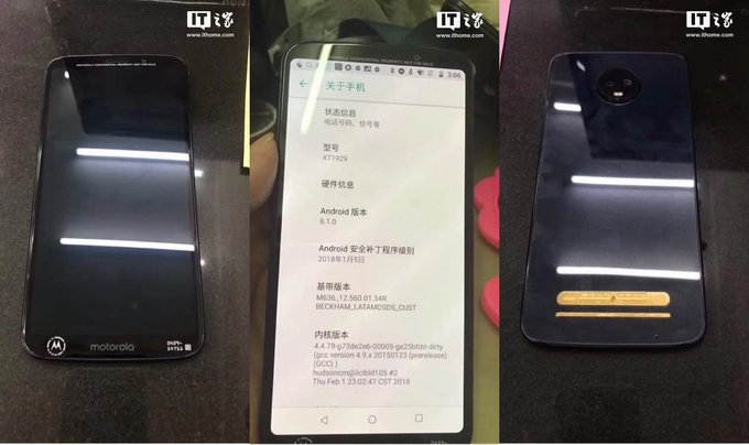 Moto Z3 Play Hands-On Images Leaked