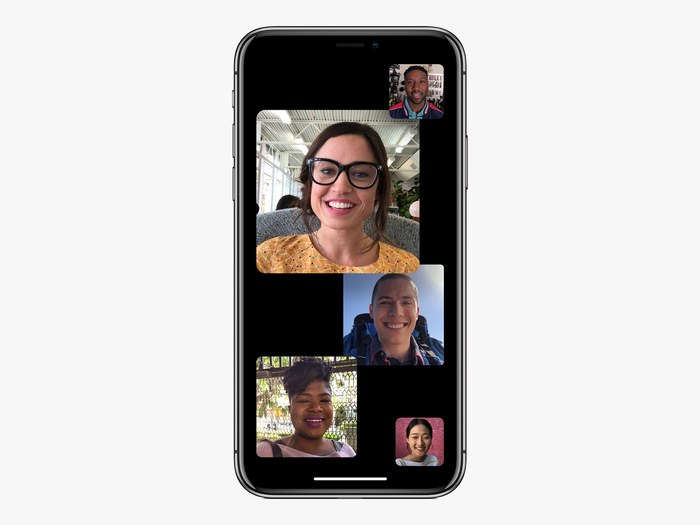 A group calling in Facetime