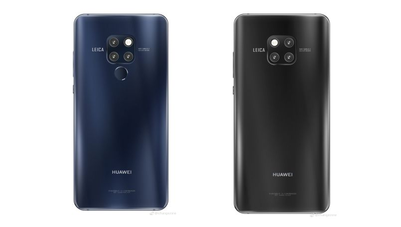 Huawei Mate 20 Press Renders In Black & Blue Colour Variations Revealed On The Internet