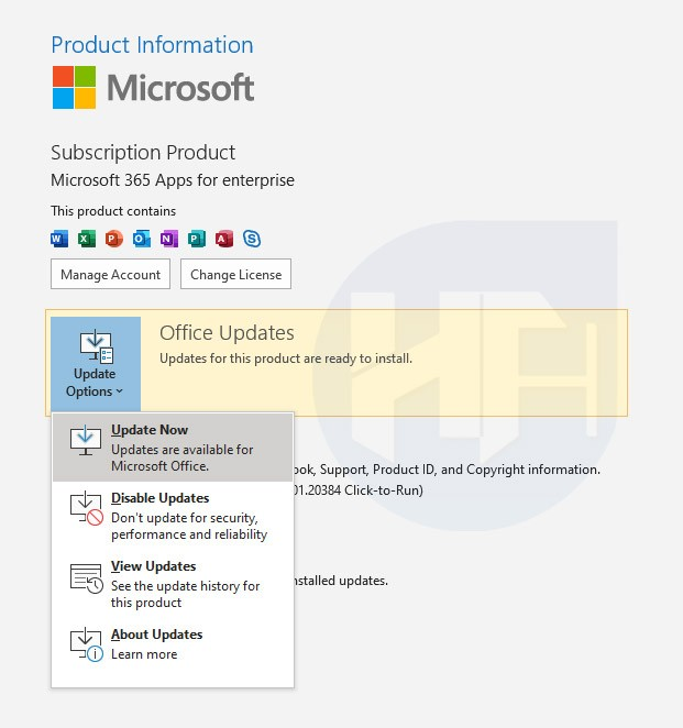 Update your Microsoft Outlook