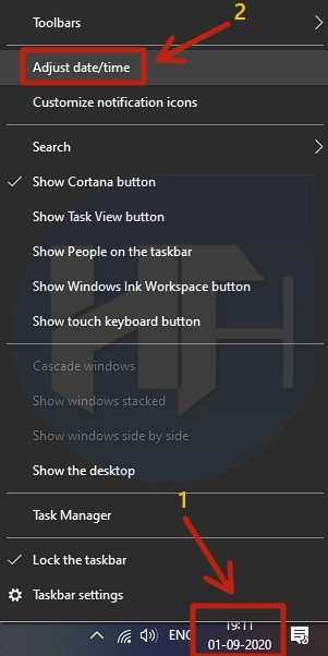 Adjust the Date and Time on your PC or Laptop