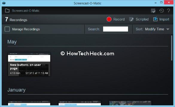 Screencast-O-Matic Screen Recorder