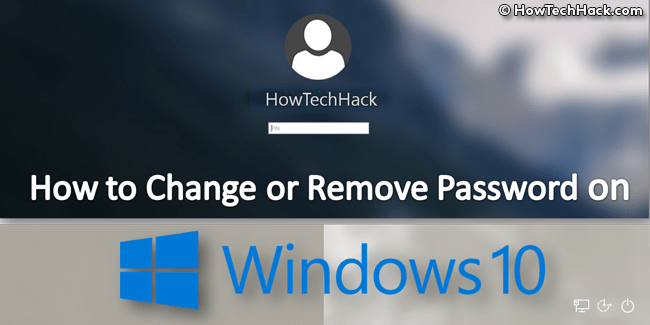 Remove Password Windows 10