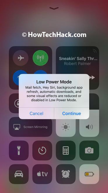 how to save battery on ios 10