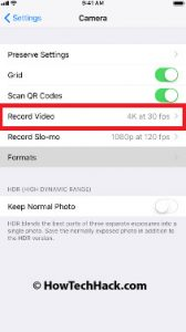 how to shoot 4k video on iphone