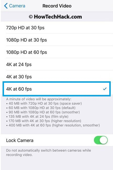how to take 4k pictures on iphone 6s