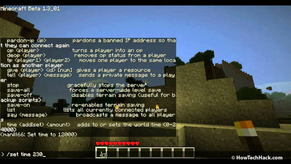 minecraft custom commands