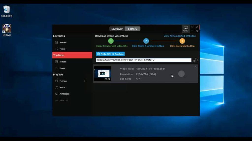 5kplayer for windows 10