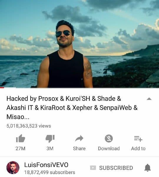Despacito hacked by Prosox & Kuroi'SH