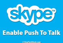Skype Push to Talk
