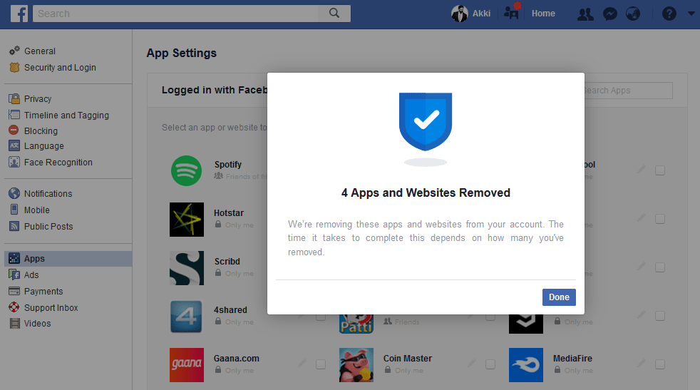 Facebook Introduces A Tool To Remove Third-Party Apps