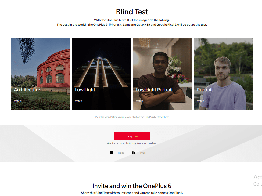 OnePlus 6 Blind Test Contest