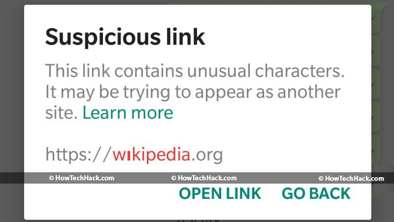Suspicious Link Indicator