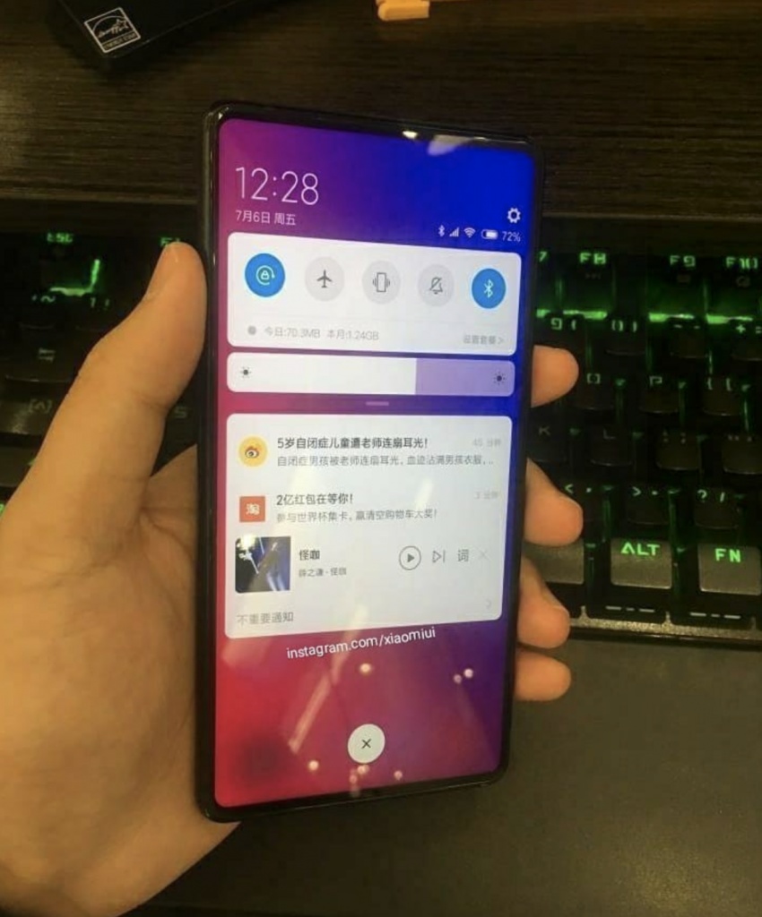 Xiaomi Mi Mix 3 Live Images