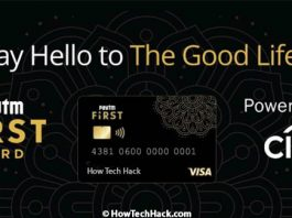 Paytm First Card