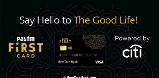 Paytm First Card