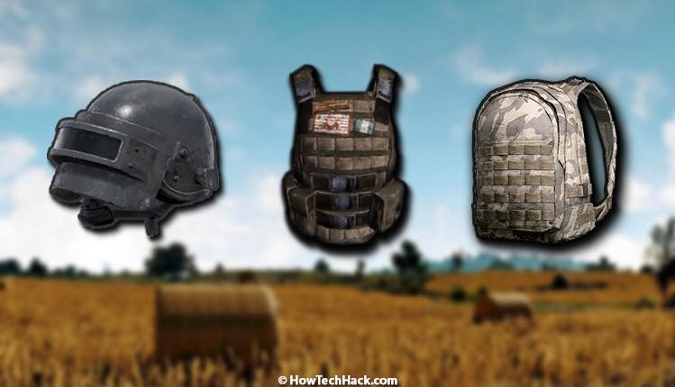 PUBG Mobile Level 3 Helmet,Armor & Backpack