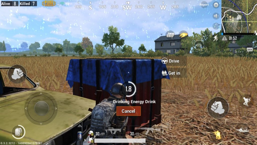 PUBG Mobile Taking Cover