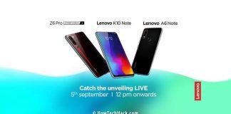 Lenovo K10 Note, Z6 Pro, A6 Note