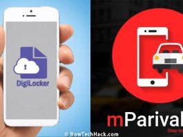 Digilocker or mParivahan