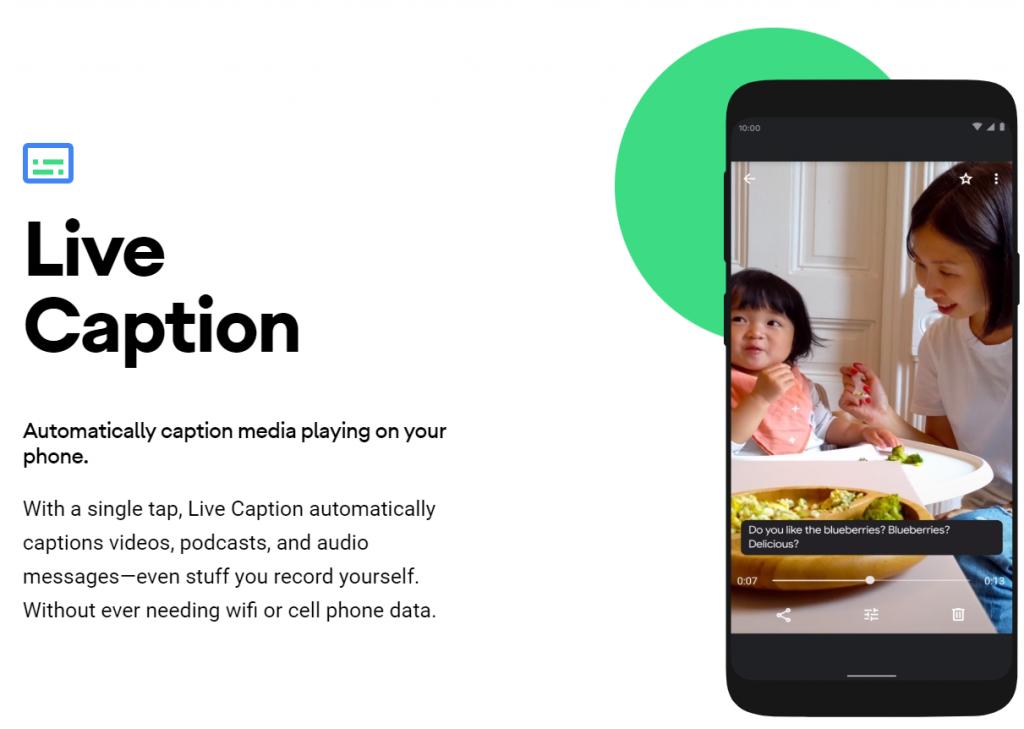 Google's Live Caption Feature