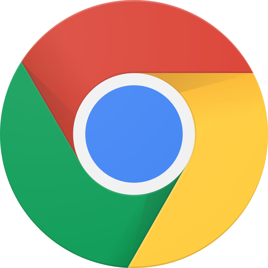Official Logo for the most used Browser interface around the world Google Chrome