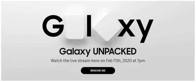 Samsung Galaxy Unpacked Event 2020