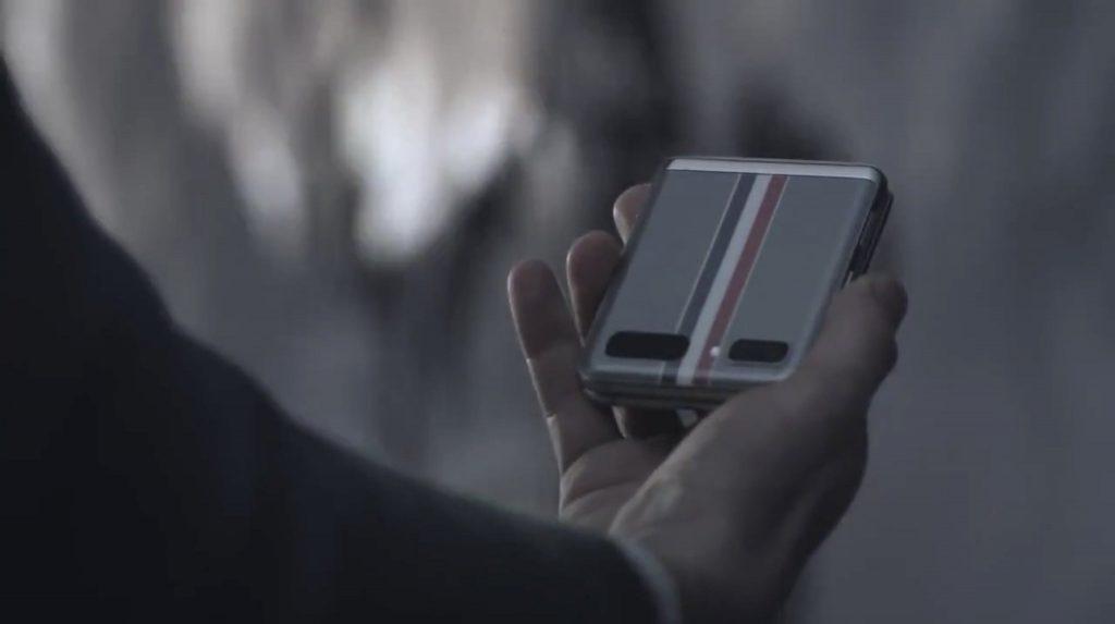 Samsung Galaxy Z Flip in a folded manner