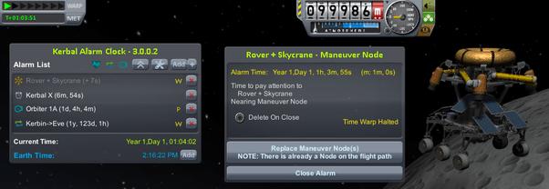 Kerbal Alarm Clock