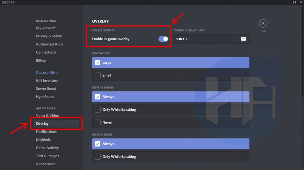Check if you have enabled overlay in Discord