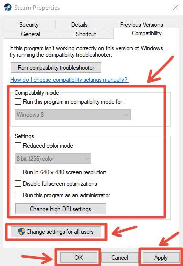 steam compatibility tab