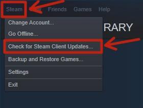 Update Steam or Reinstall it