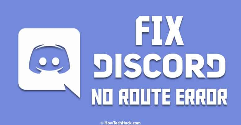 Discord No Route Error